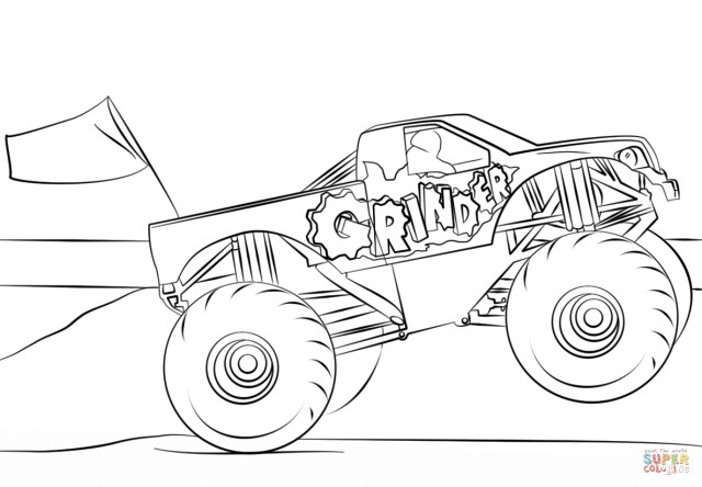 grave digger coloring page best photo of grave digger coloring pages birijuscom coloring digger page grave