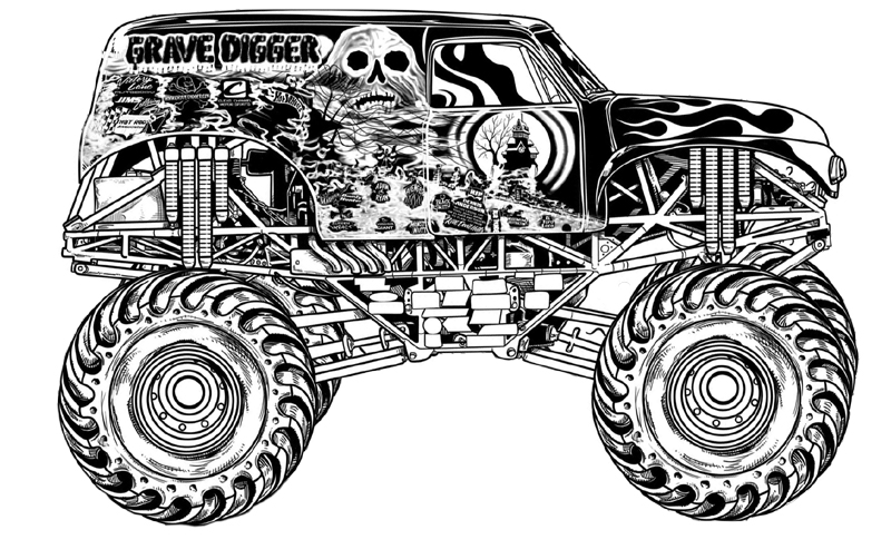 grave digger coloring page grave digger coloring pages gravediggercoloringpages digger page grave coloring