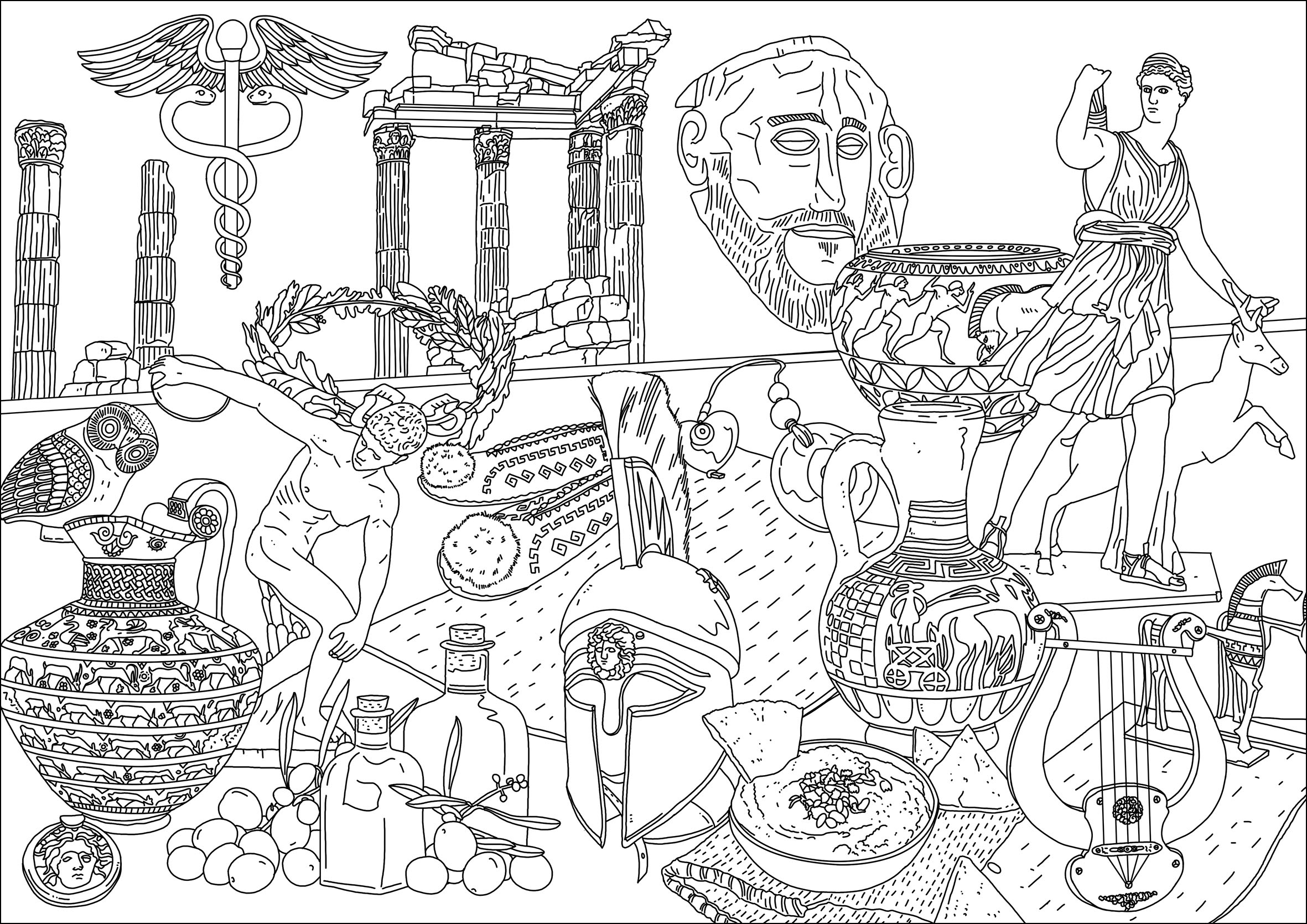 greek art coloring pages ancient greece ancient greek city greek history abc pages coloring greek art