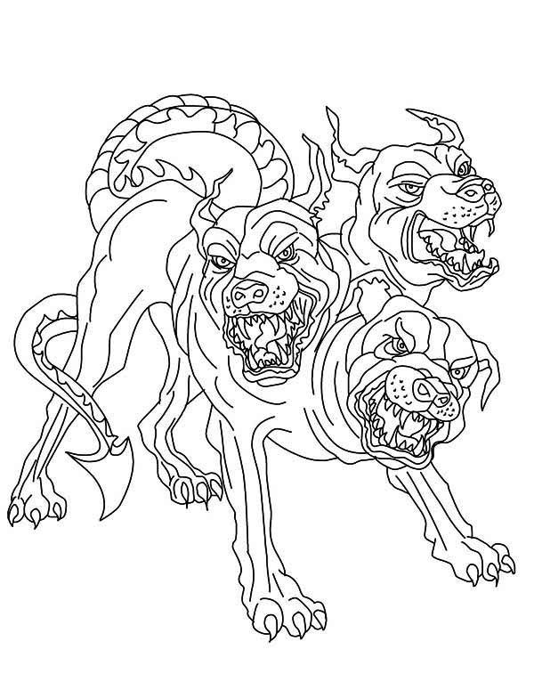 greek art coloring pages cerberus greek mythology line art bing images greek art coloring greek pages