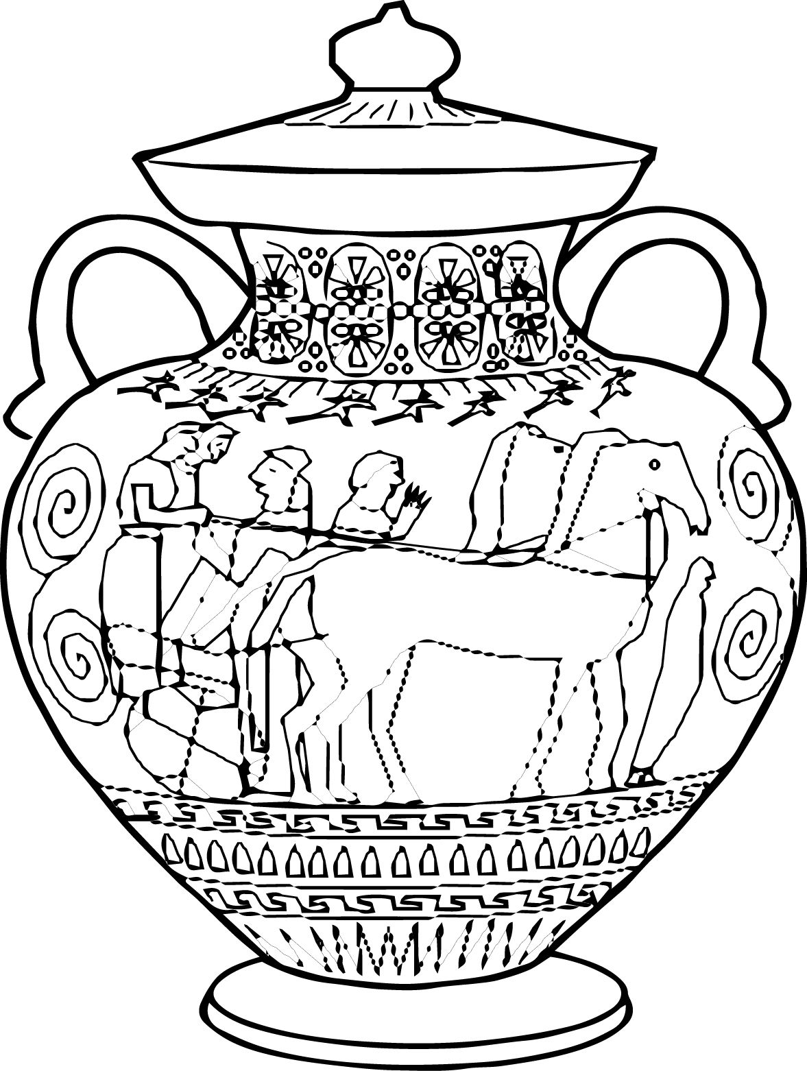 greek art coloring pages from book life in ancient greece ancient greece adult pages coloring art greek