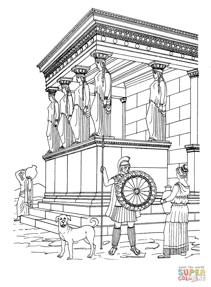 greek art coloring pages image result for acropolis coloring pages greek art pages art greek coloring