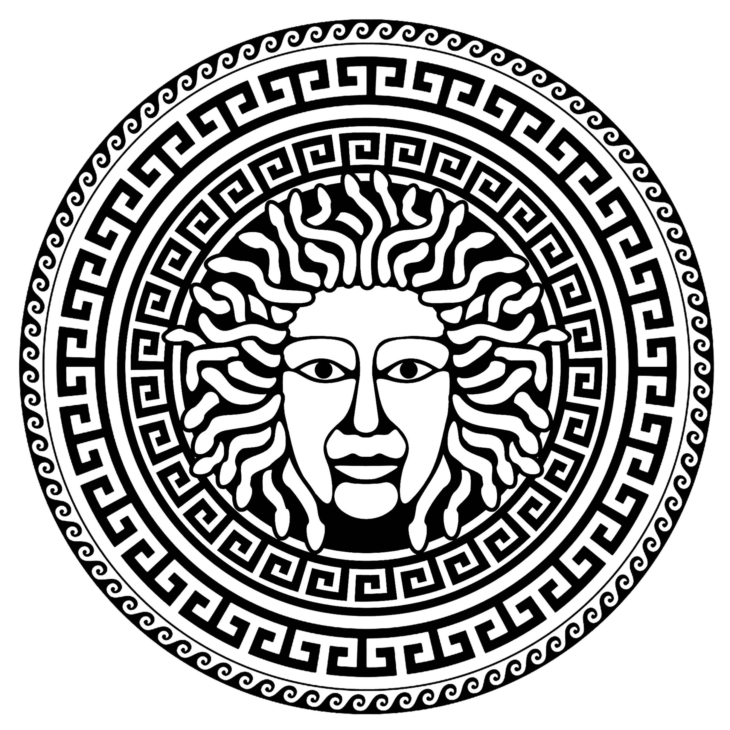 greek art coloring pages medusa greek circle 2 ancient greece adult coloring pages art coloring greek pages
