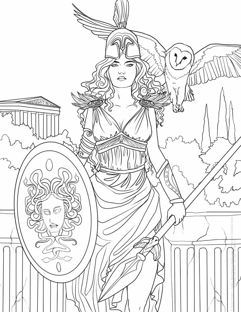 greek art coloring pages selinafenechgoddessathena coloring books coloring pages art greek coloring