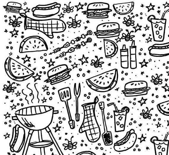 grill coloring page barbeque grill colouring pages sketch coloring page coloring grill page