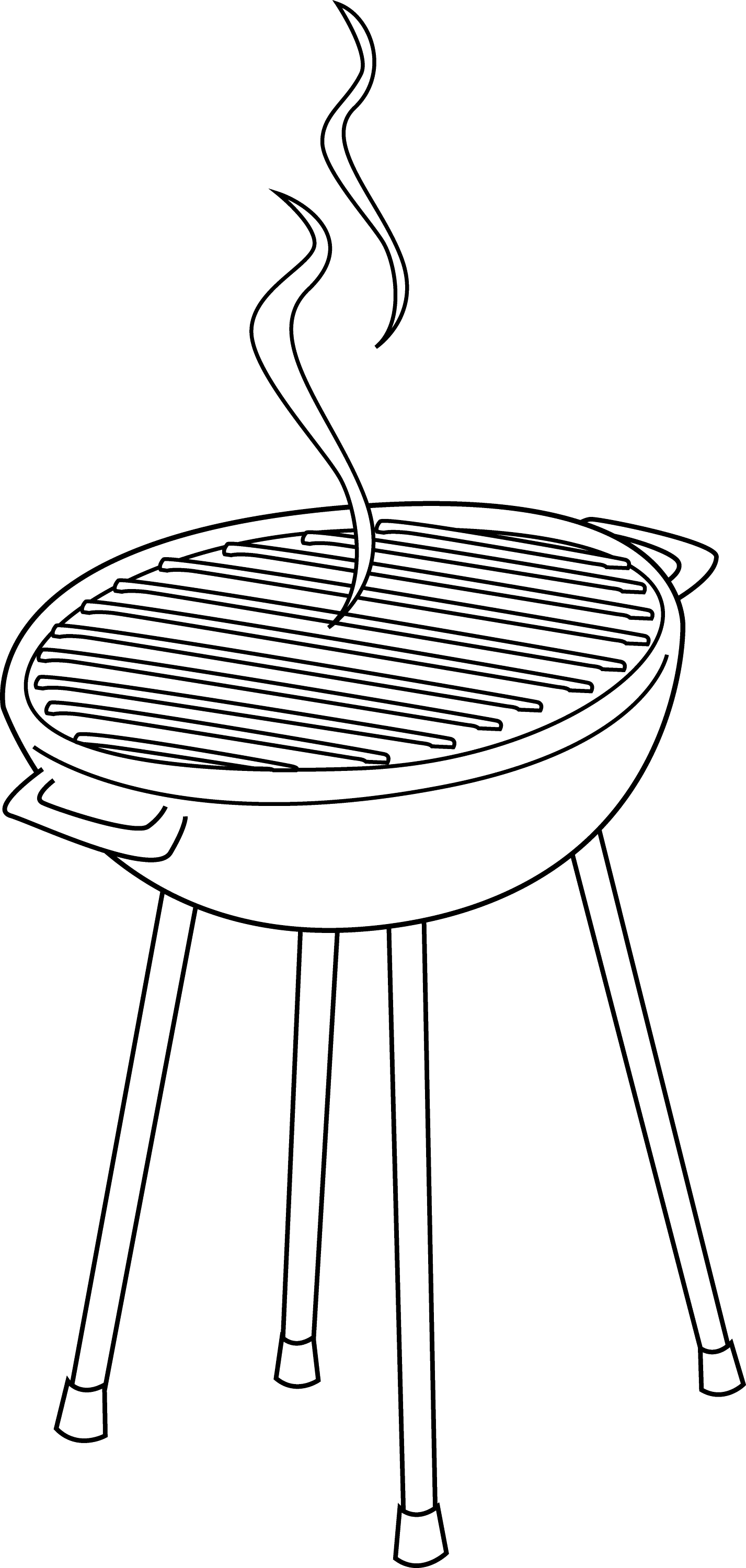grill coloring page barbeque grill line art free clip art coloring page grill