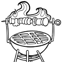 grill coloring page grill time coloring pages surfnetkids grill page coloring