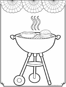 grill coloring page kidprintablescom coloring pages grill coloring page