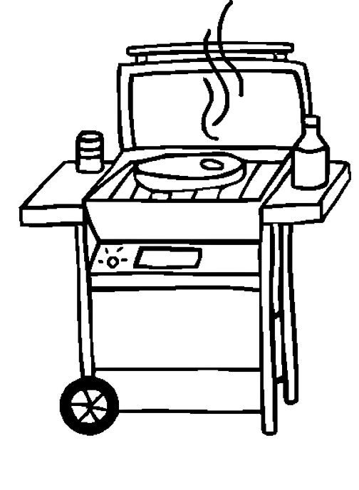 grill coloring page malvorlage grill haushalt kostenlose ausmalbilder coloring page grill