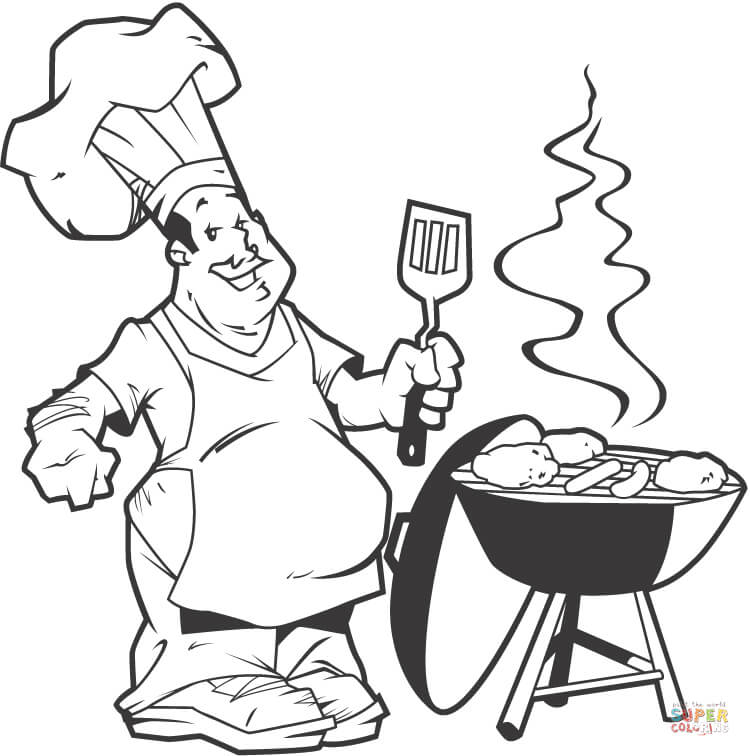 grill coloring page printable backyard bbq coloring page for kids instant page grill coloring