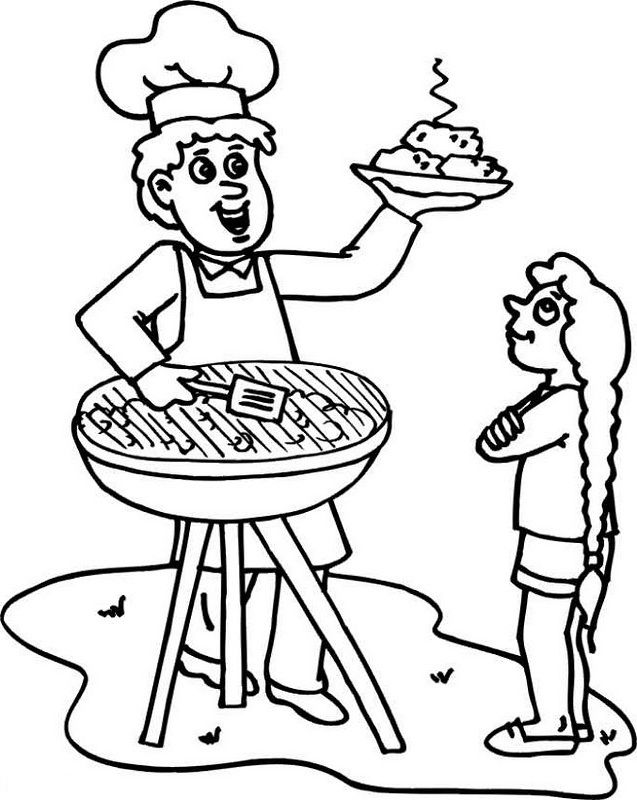 grill coloring page summer bbq grill coloring page coloring grill page