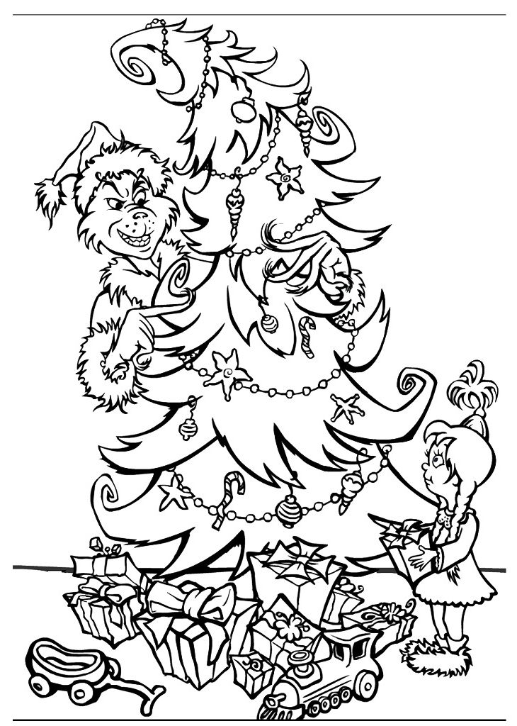 grinch christmas coloring pages the grinch in christmas sleigh coloring pages hellokids grinch christmas coloring pages