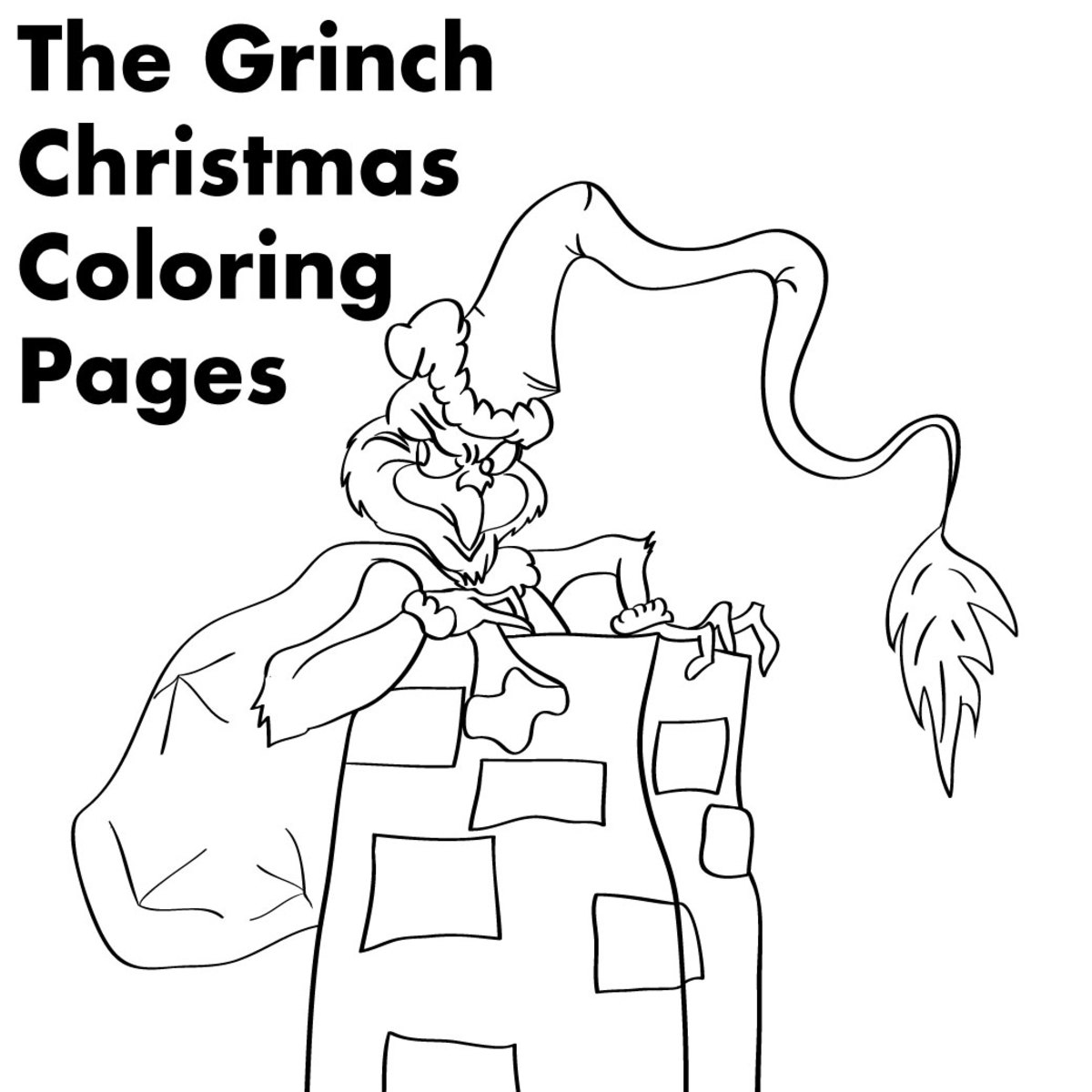 grinch christmas coloring pages the grinch sneaking out to steal christmas gifts coloring grinch christmas pages coloring