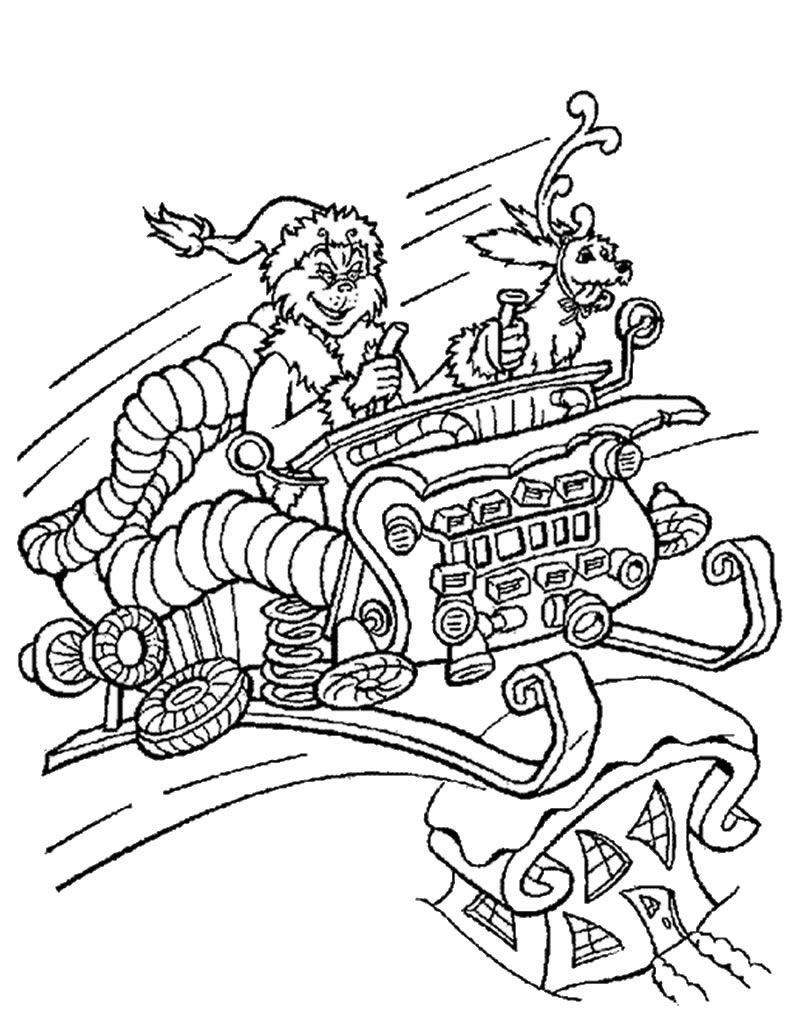 grinch christmas coloring pages the grinch throwing christmas card to the bin coloring grinch coloring christmas pages