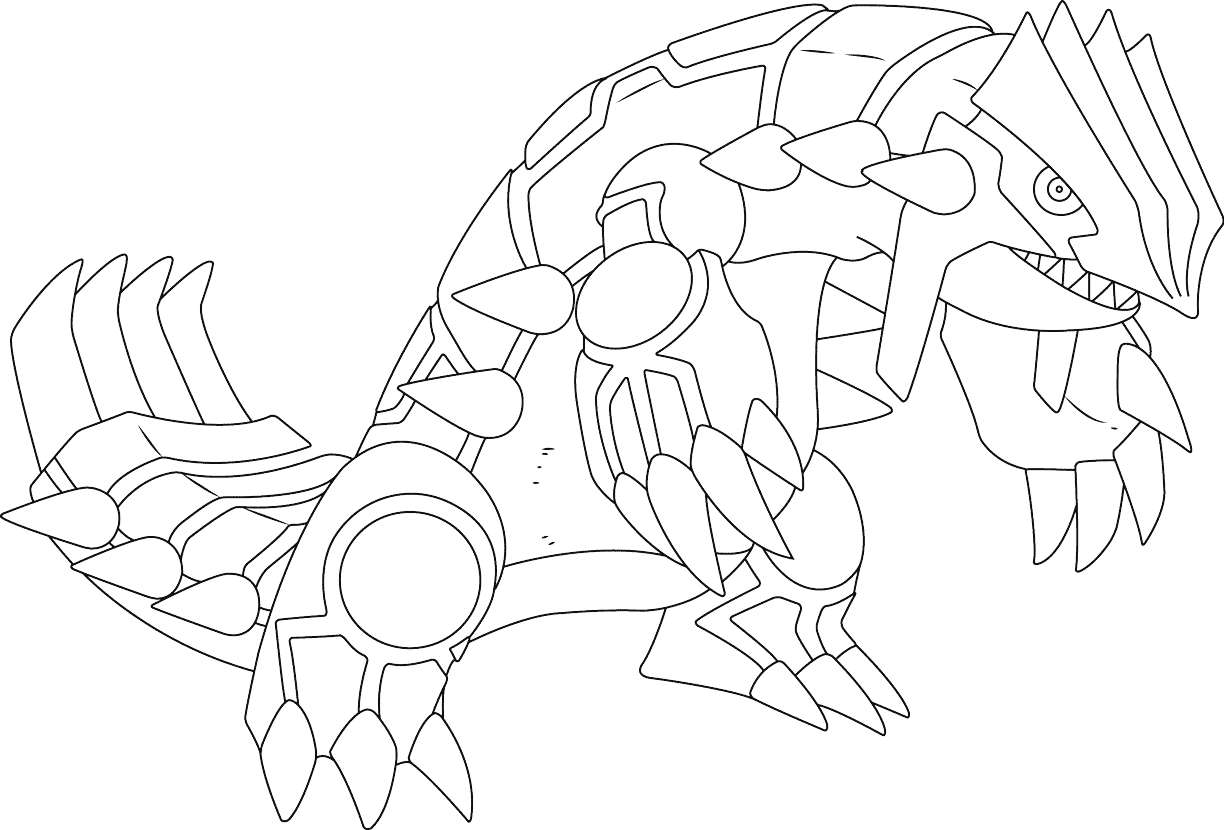 groudon pokemon coloring page primal groudon drawing at getdrawings free download coloring page pokemon groudon