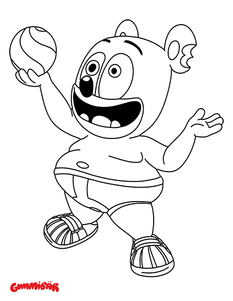 gummy bear coloring pages gummibär the gummy bear coloring page lets play ball coloring bear gummy pages