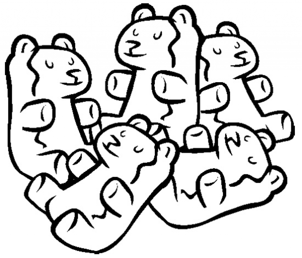 gummy bear coloring pages gummy bear drawing at getdrawings free download bear coloring pages gummy