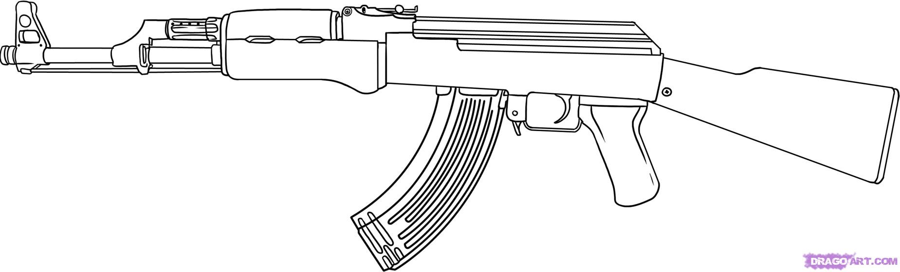 gun colouring pictures assault rifle coloring download assault rifle coloring colouring gun pictures 1 1