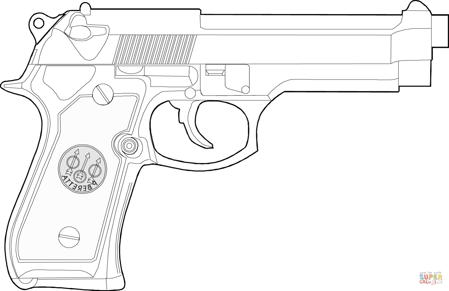 gun colouring pictures beretta handgun coloring page free printable coloring pages gun pictures colouring