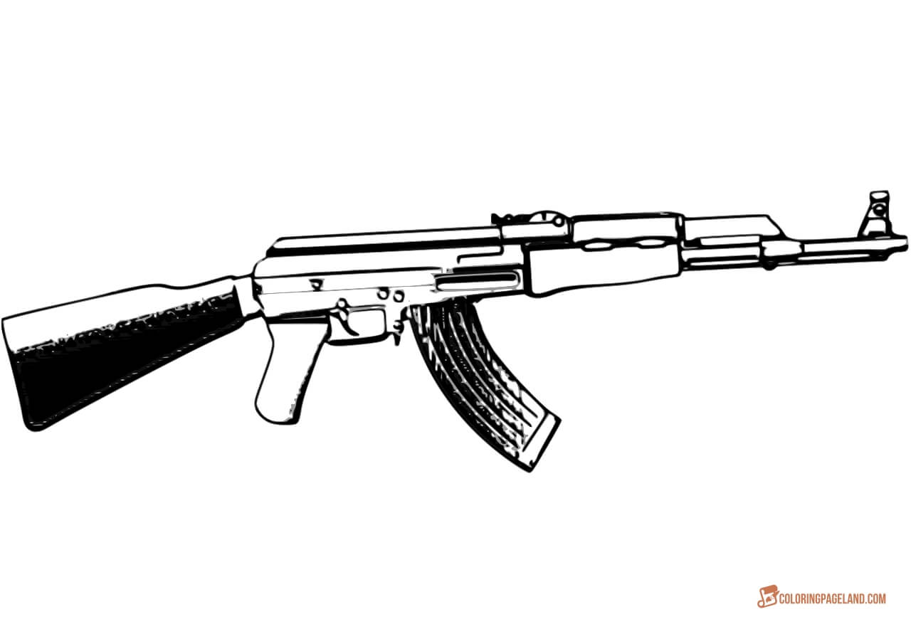 gun colouring pictures guns drawing at getdrawings free download pictures colouring gun