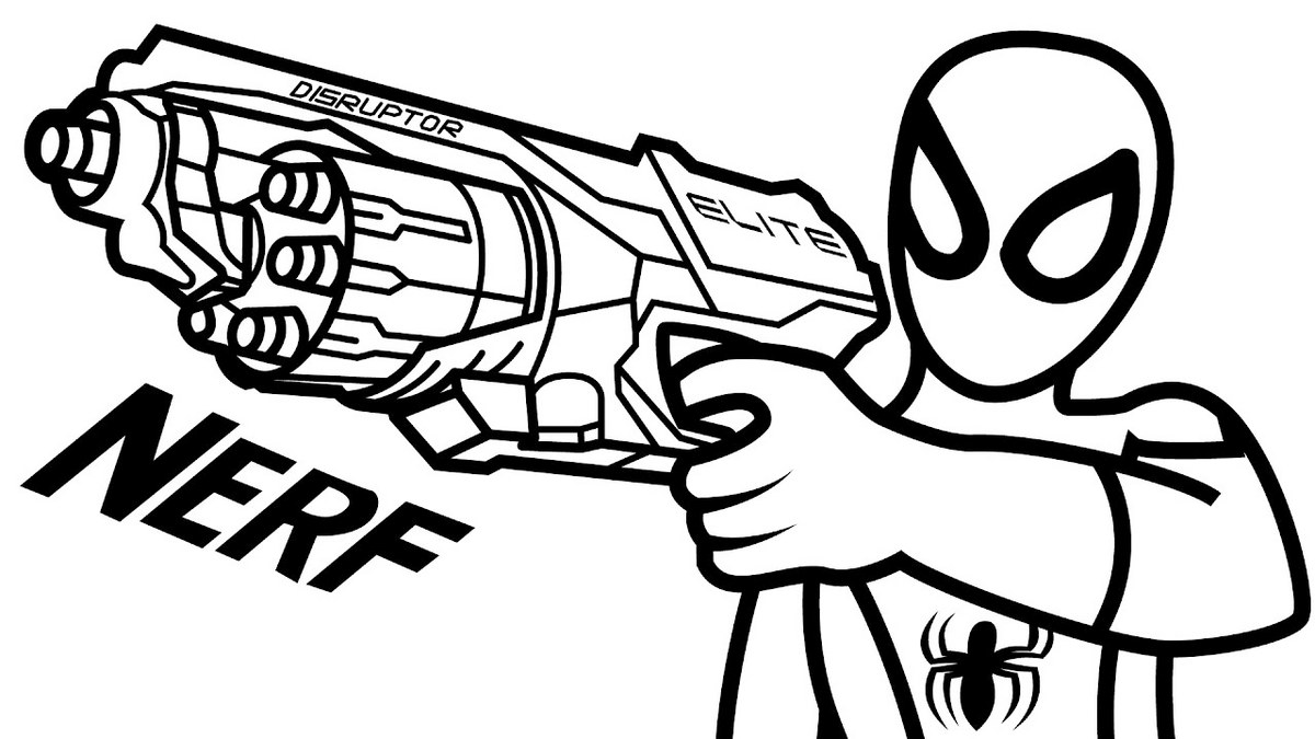 gun colouring pictures nerf gun coloring page to print gun pictures colouring
