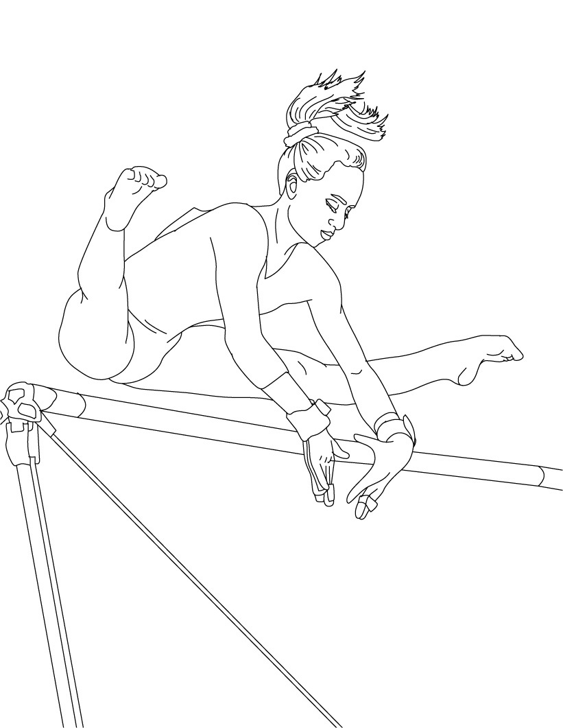 gymnastic coloring pages free printable gymnastics coloring pages for kids pages coloring gymnastic