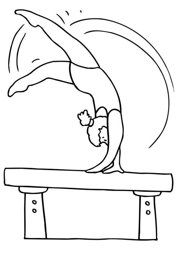 gymnastic coloring pages free printable gymnastics coloring pages for kids pages gymnastic coloring