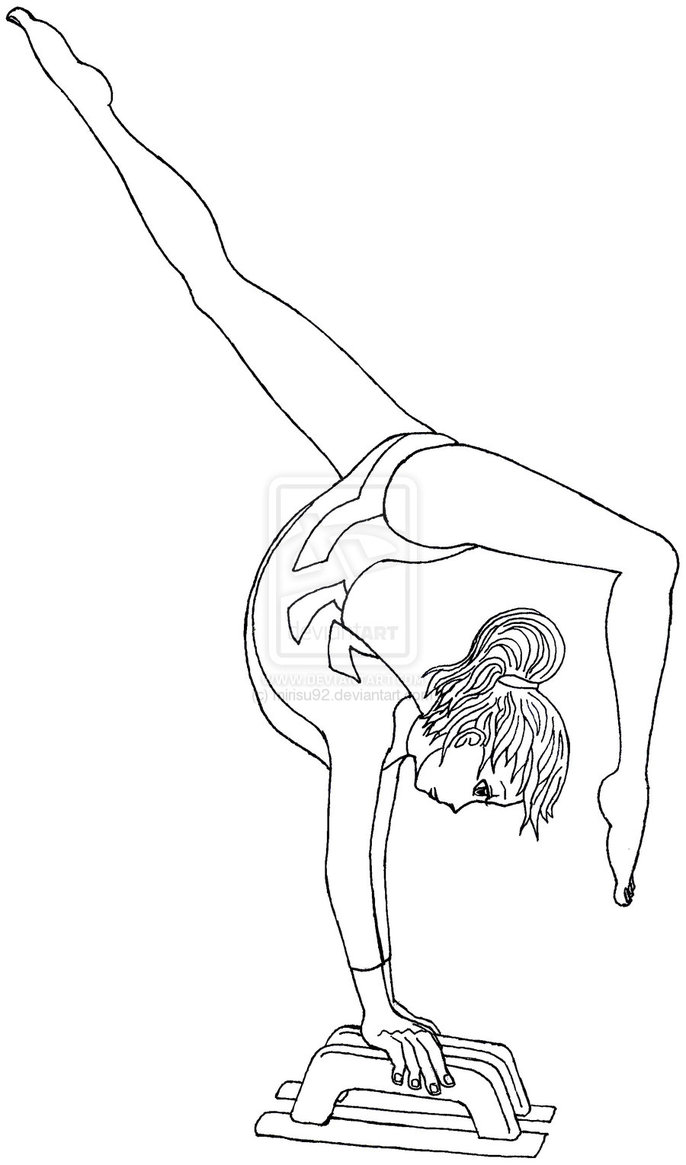 gymnastic coloring pages gymnastics drawing easy at getdrawings free download gymnastic pages coloring