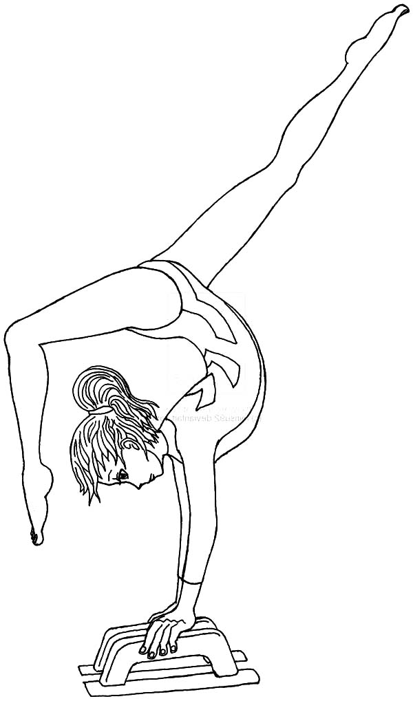 gymnastic coloring pages olympics coloring pages young gymnast on balance beam coloring pages gymnastic