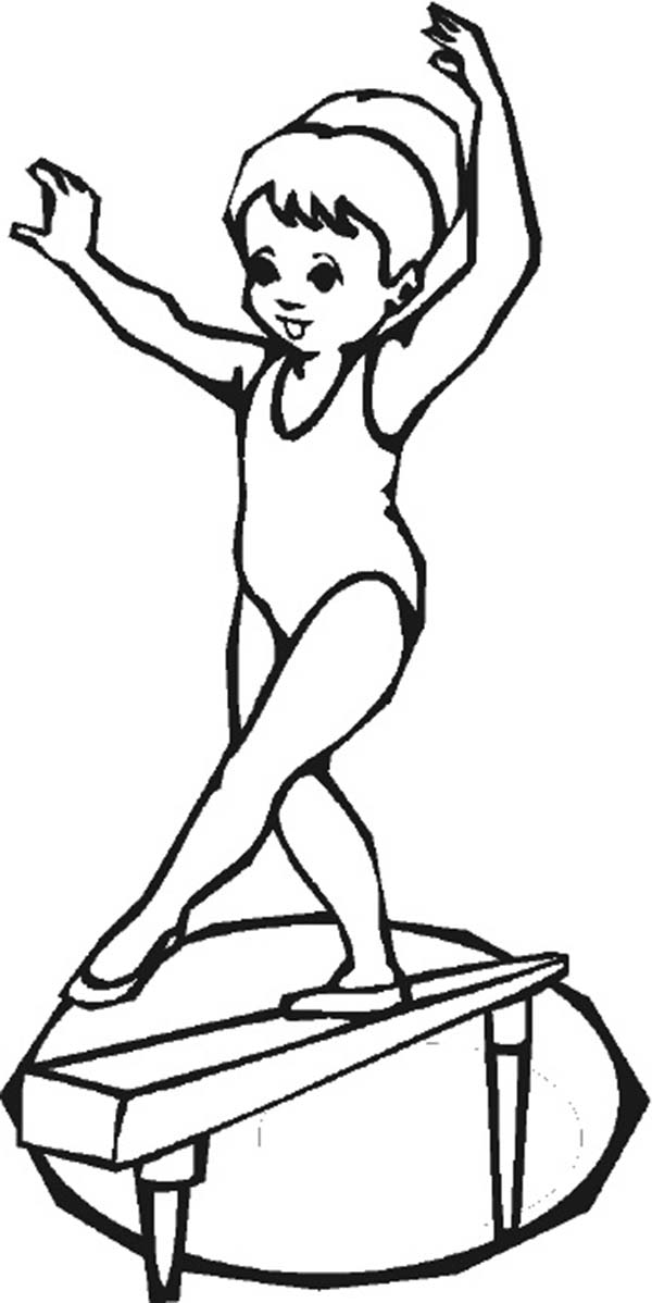 gymnastic colouring pictures gymnastics balancing woman olympic games coloring page colouring pictures gymnastic