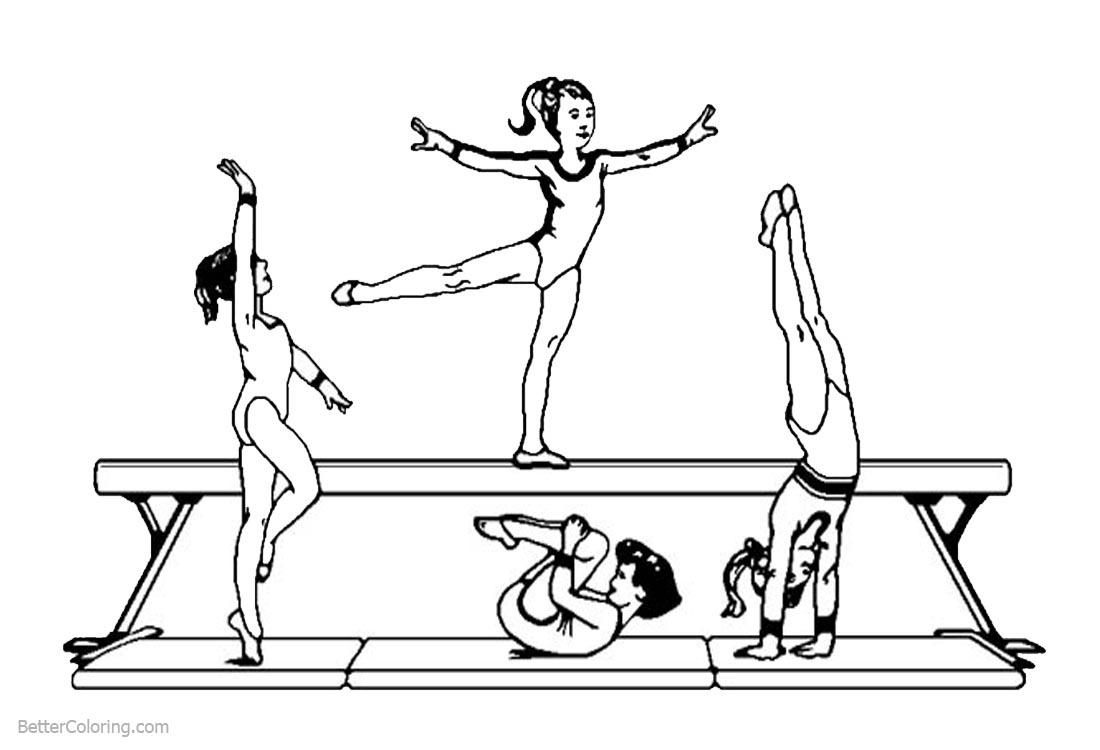gymnastic colouring pictures woman gymnastics coloring pages free printable coloring gymnastic colouring pictures