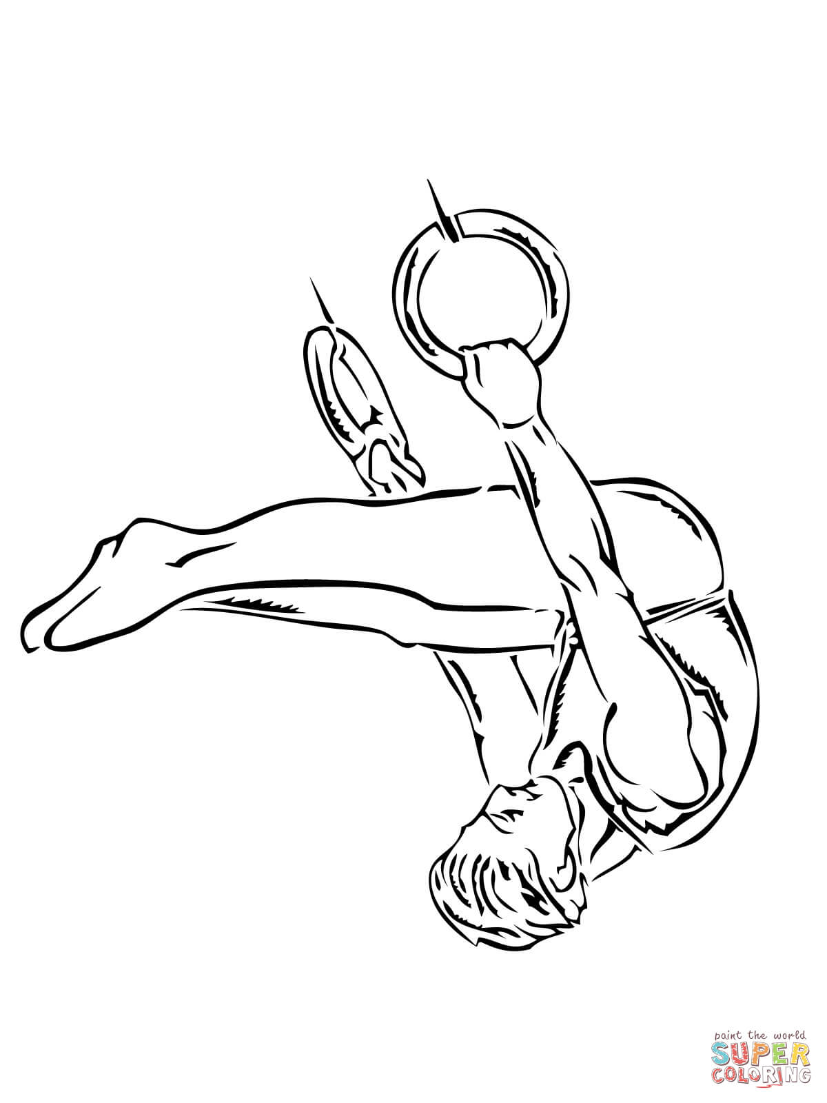 gymnastics coloring pages to print gymnastic ring performance coloring page free printable pages gymnastics coloring print to