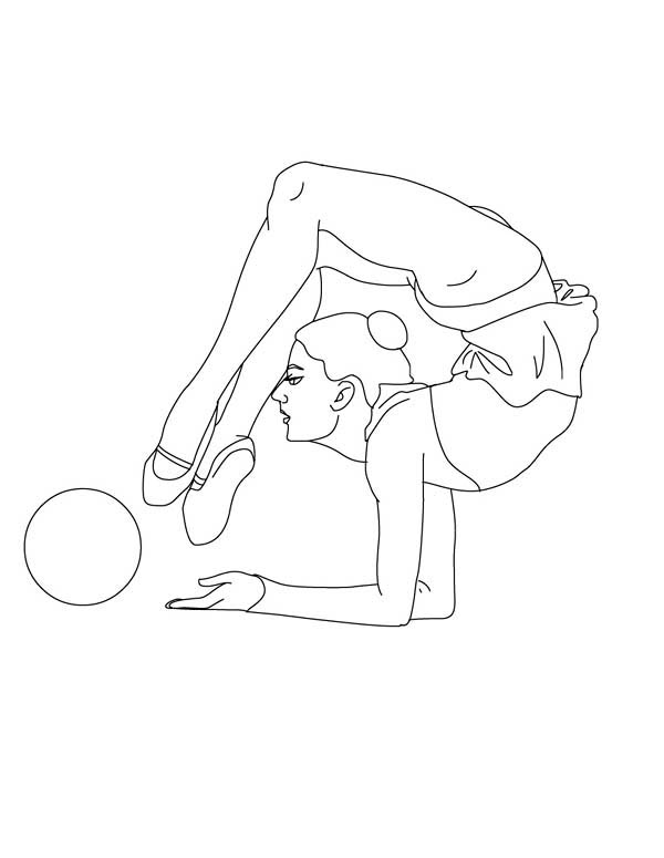 gymnastics pictures to color ball individual all around rhythmic gymnastic coloring color pictures gymnastics to