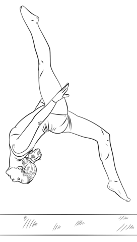 gymnastics pictures to color gymnast on a beam coloring page free printable coloring color to pictures gymnastics