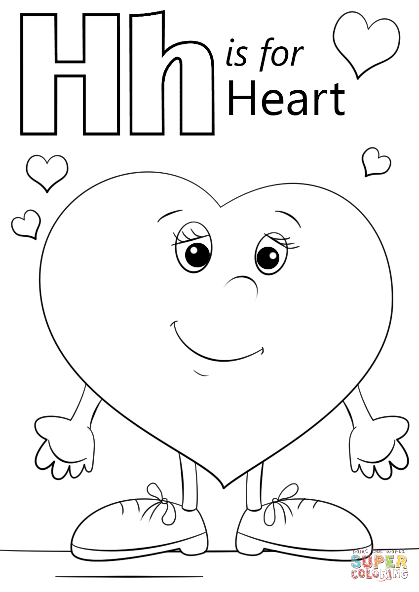 h for coloring free printable alphabet coloring pages for kids best h coloring for