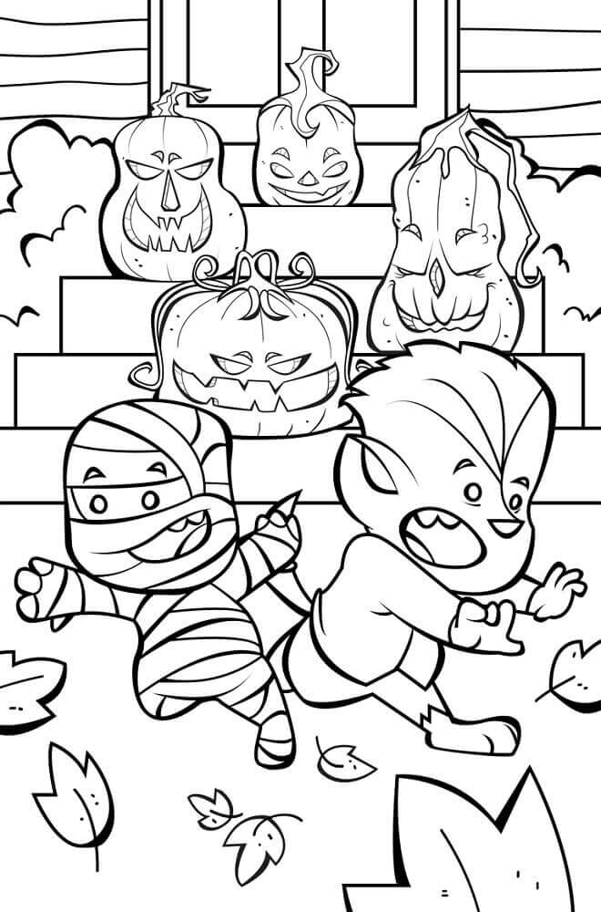 halloween color pages 30 cute halloween coloring pages for kids scribblefun color halloween pages