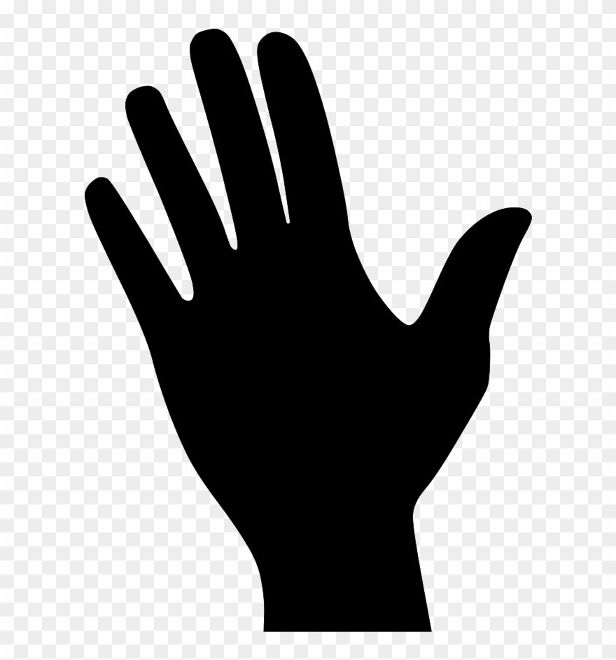 hand silhouette hand silhouette vector at getdrawings free download silhouette hand