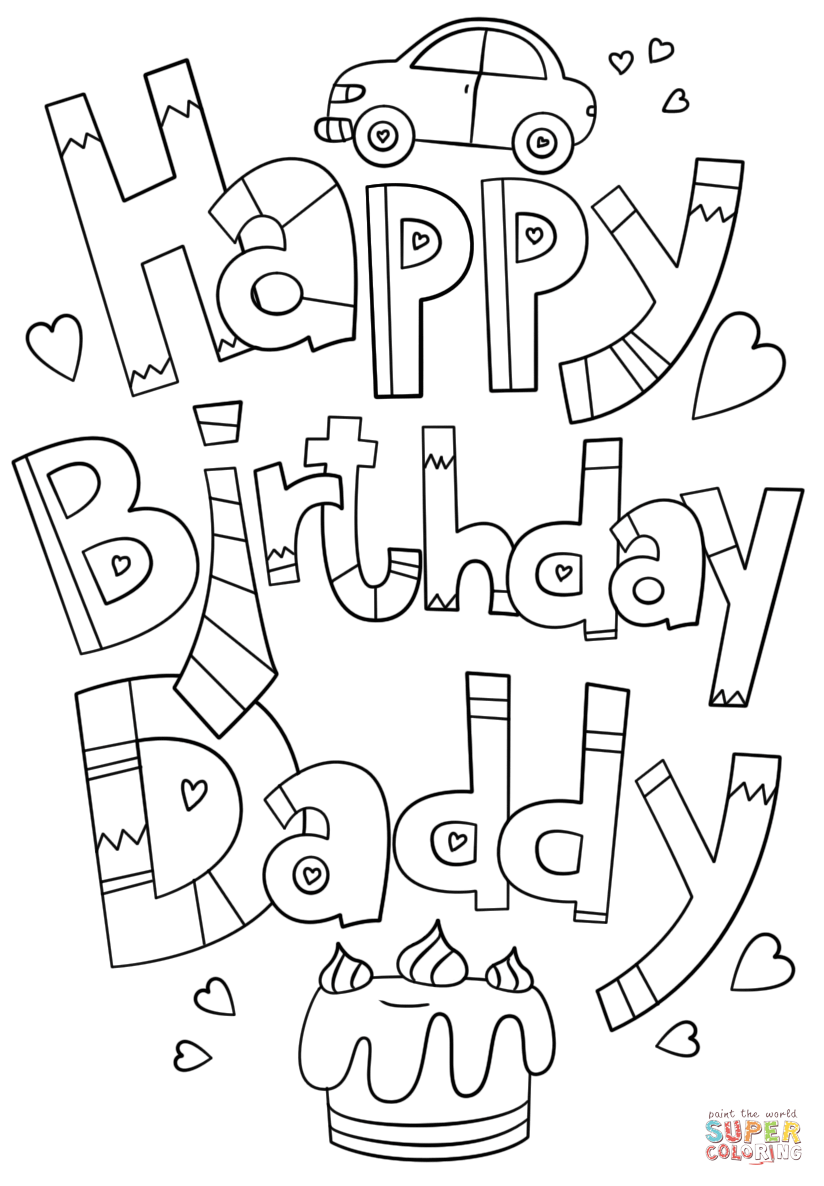 happy 30th birthday coloring pages funny card happy birthday dad coloring page for kids pages coloring 30th birthday happy
