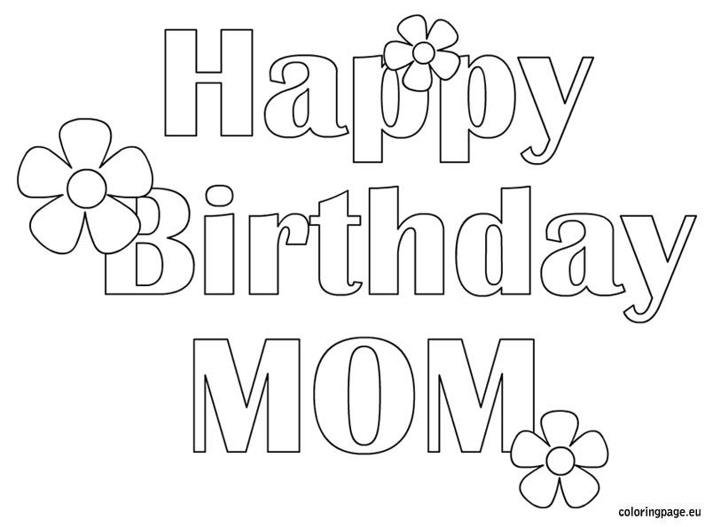 happy 30th birthday coloring pages happy birthday mom free coloring page kid crafts happy pages coloring birthday 30th