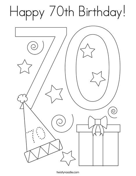 happy 70th birthday coloring pages 134 best happy birthday coloring pages images birthday birthday pages 70th coloring happy