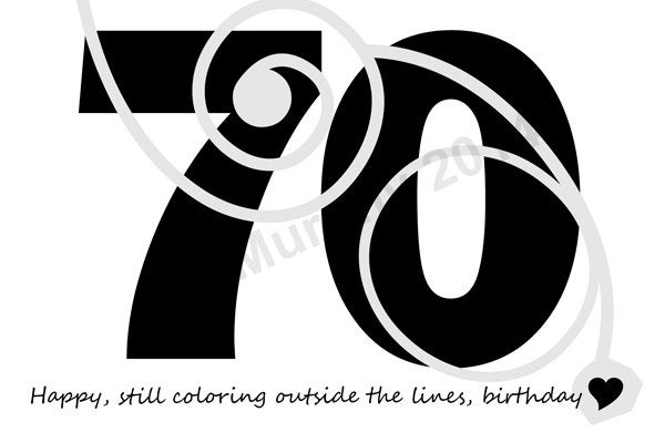 happy 70th birthday coloring pages 70th birthday images stock photos vectors shutterstock happy pages birthday 70th coloring