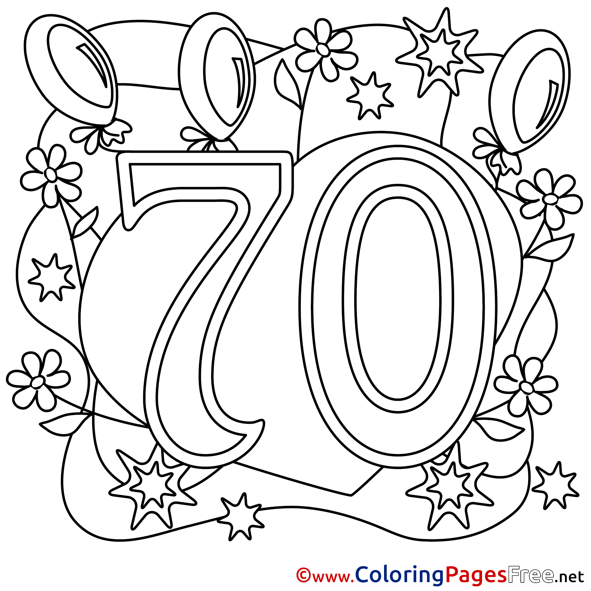 happy 70th birthday coloring pages happy 70th birthday grandma coloring page twisty noodle 70th happy birthday coloring pages