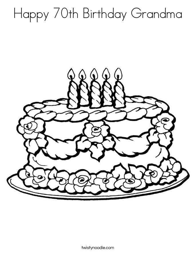 happy 70th birthday coloring pages happy 70th birthday grandma coloring page twisty noodle coloring happy 70th pages birthday