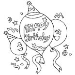 happy birthday cat coloring page a cat blowing a horn for happy birthday party coloring birthday cat happy page coloring