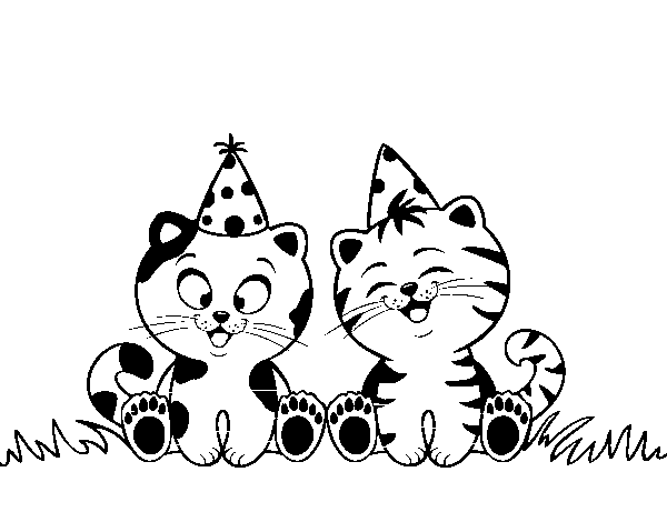 happy birthday cat coloring page birthday cats coloring page coloringcrewcom birthday cat happy page coloring