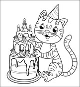 happy birthday cat coloring page cake coloring pages free printable pictures birthday coloring page happy cat
