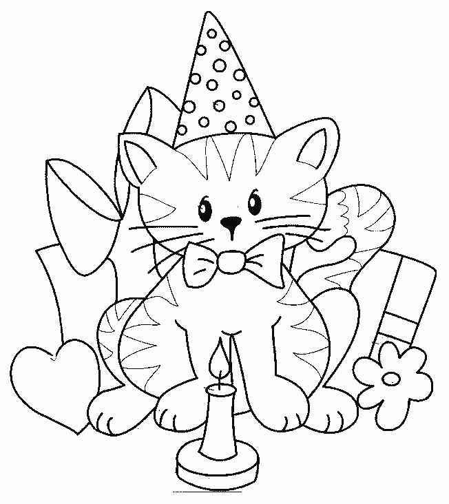 happy birthday cat coloring page kitty birthday coloring page happy page birthday coloring cat