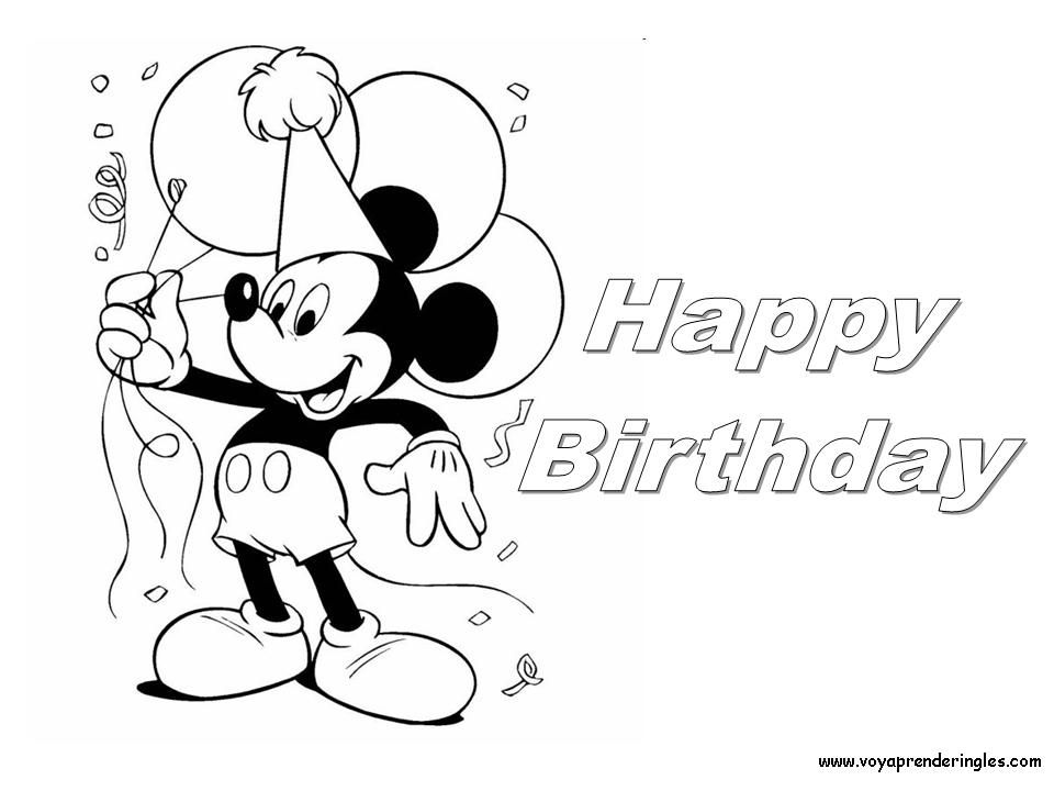 happy birthday mickey mouse coloring pages mickey mouse with birthday cake coloring pages 1241 mouse pages coloring birthday happy mickey