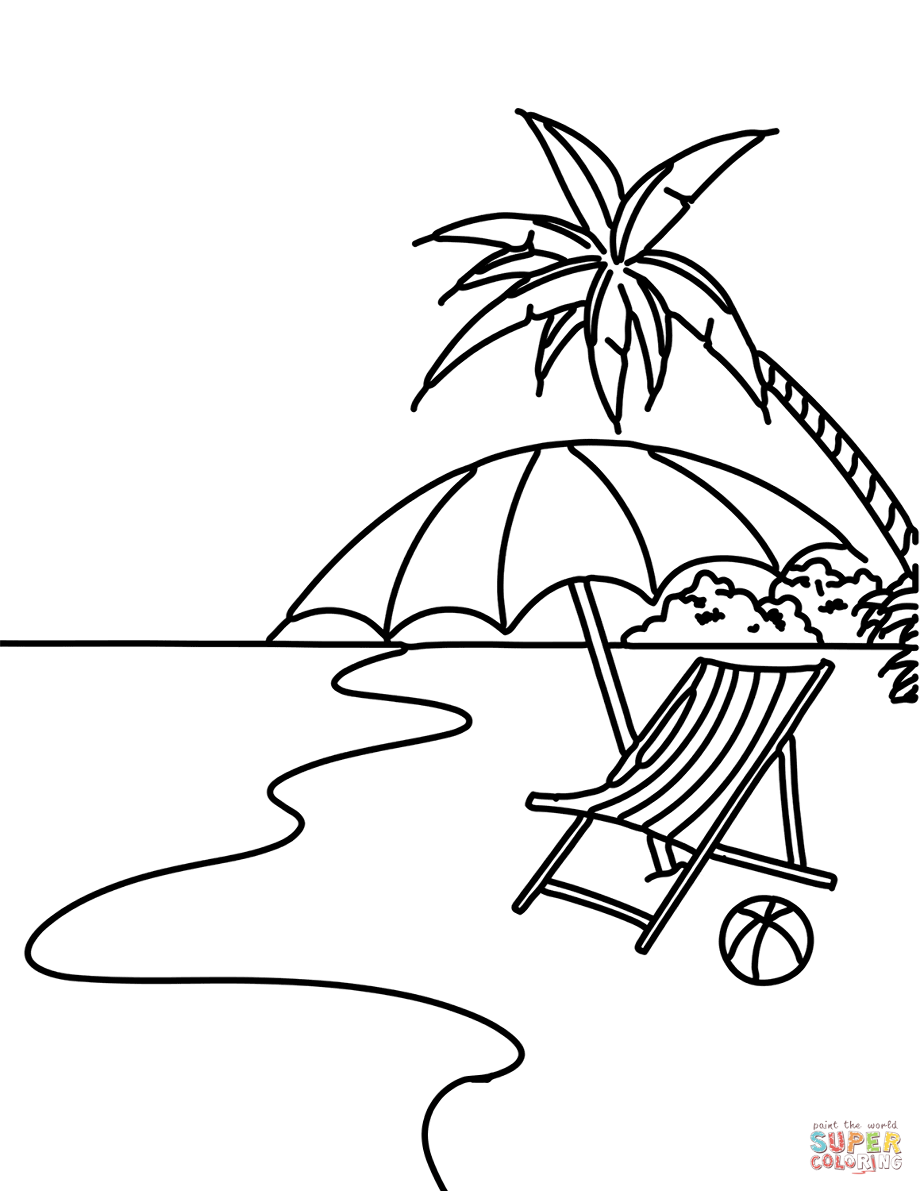 hard beach coloring pages beach coloring pages for adults printable at getdrawings coloring hard pages beach