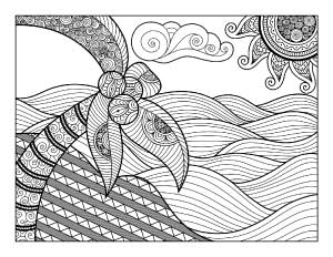 hard beach coloring pages beach scene coloring pages getcoloringpagescom beach hard coloring pages
